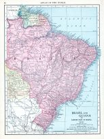 Brazil and Guiana, World Atlas 1913
